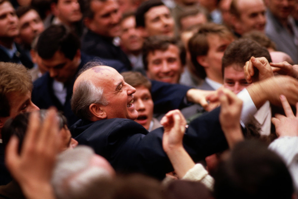 "Gorbatchev. Prague, Czechoslovakia, 1987.<span class=""photo-essays-link""><span class=""separator"">・</span><a href=""/photo-essays"">Photo-essays</a></span>"