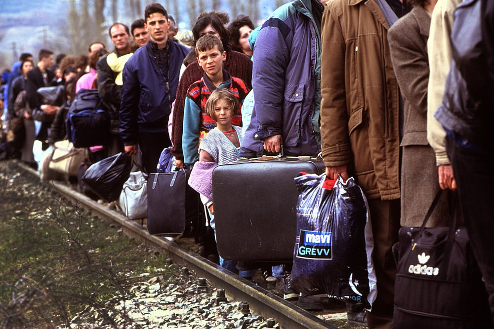 "Kosovar-Albanian refugees. Kosovo, 1999.<span class=""photo-essays-link""><span class=""separator"">・</span><a href=""/photo-essays"">Photo-essays</a></span>"