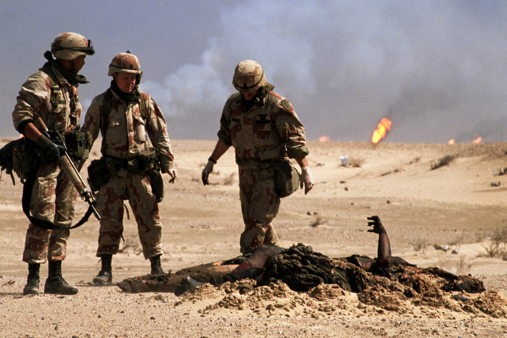 "Military graves detail. Gulf War. Kuwait, 1991.<span class=""photo-essays-link""><span class=""separator"">・</span><a href=""/photo-essays"">Photo-essays</a></span>"
