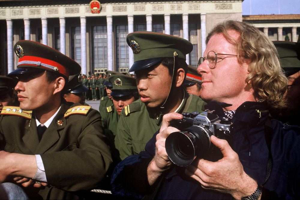 "Tiananmen Square, Beijing, China, 1989<span class=""photo-essays-link""><span class=""separator"">・</span><a href=""/photo-essays"">Photo-essays</a></span>"