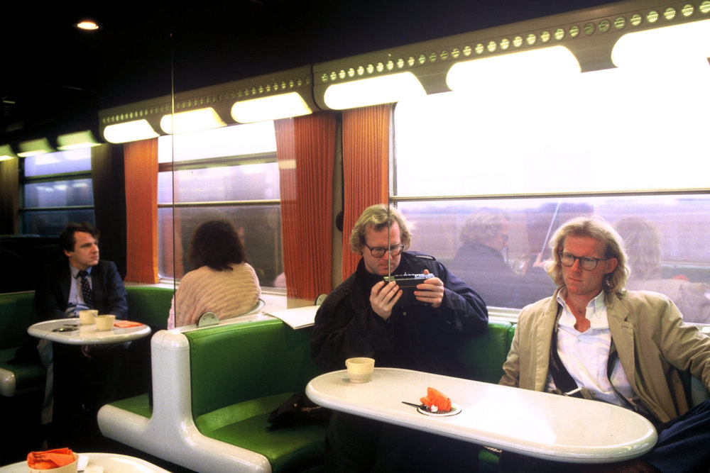 "With my brother David, right, on a train in France.<span class=""photo-essays-link""><span class=""separator"">・</span><a href=""/photo-essays"">Photo-essays</a></span>"