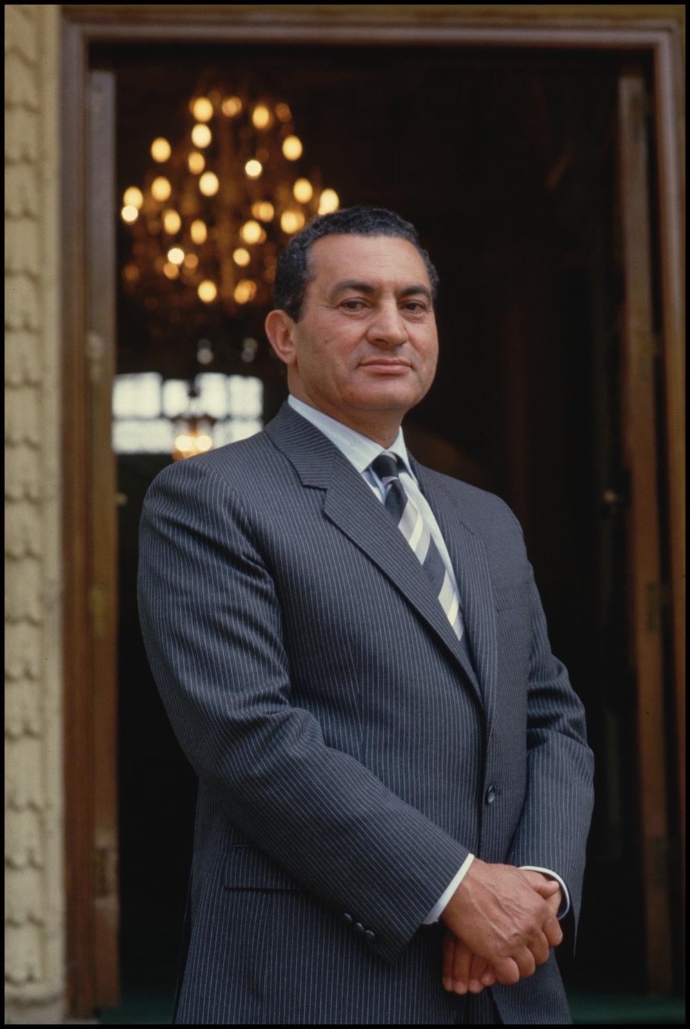 1986, Cairo, Egypt --- Egyptian President Hosni Mubarak
