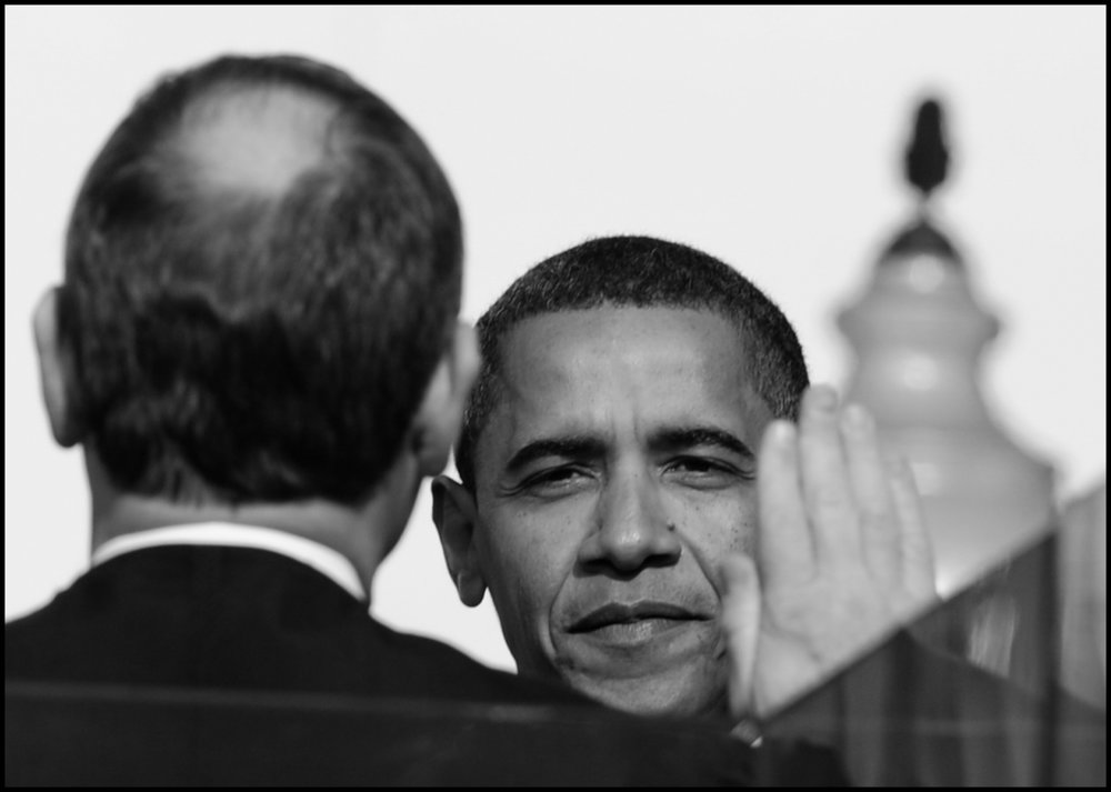 20 Jan 2009, Washington, DC, USA --- Barack Obama is sworn in as Americas' 44th President of the United States in front of the US Capitol Building in Washington DC.