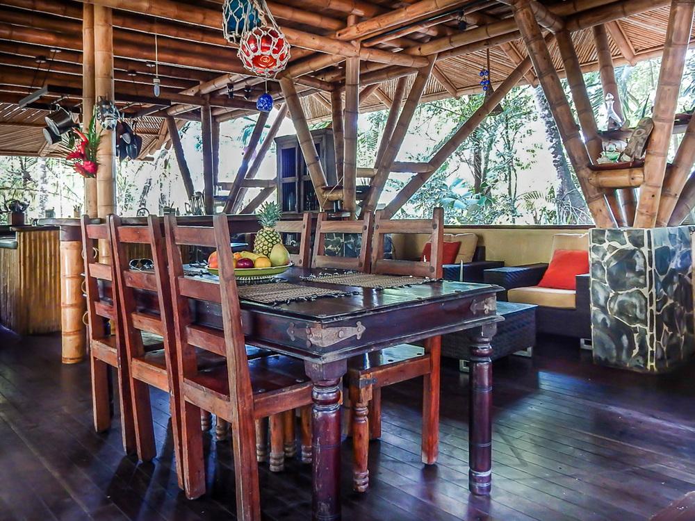 Casa Tonka's dining area