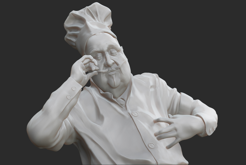 J.C Leyendecker: Chef Model