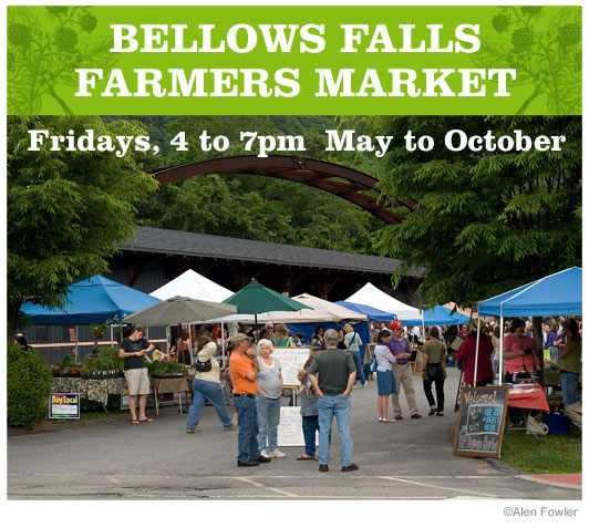 Local Bellows Falls and Walpole, NH area produce and crafts of all kinds for sale every week during the summer.     http://www.bffarmersmarket.com/