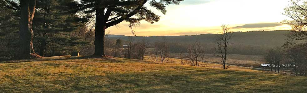 Boggy Meadow Farm, a Farm-to-Table participant, at sunset.
