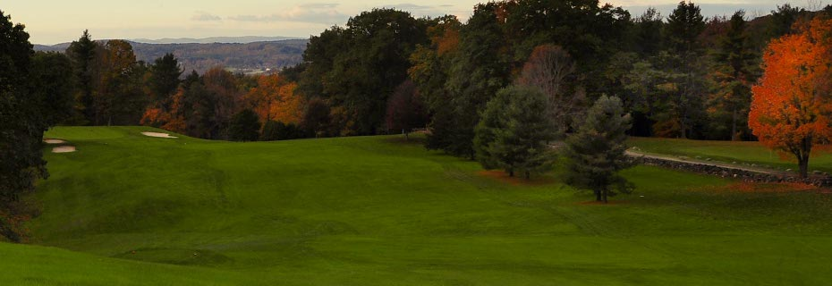The first hole at the top-ten rated Hooper Golf Course, just across the Connecticut River in Walpole, NH.     http://www.hoopergolfclub.com/