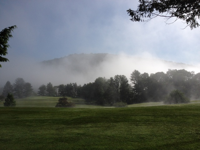 A foggy   early morning fairway view at the Bellows Fall Country Club just north of Bellows Falls and across the road from The Vermont Country Store.     http://www.bellowsfallscountryclub.com/