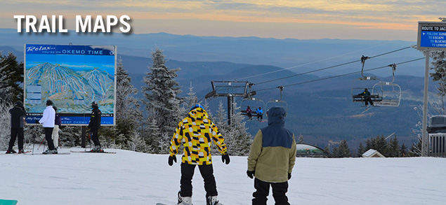 Okemo Mountain Resort...a short train ride or drive from Bellows Falls to Ludlow, Vermont