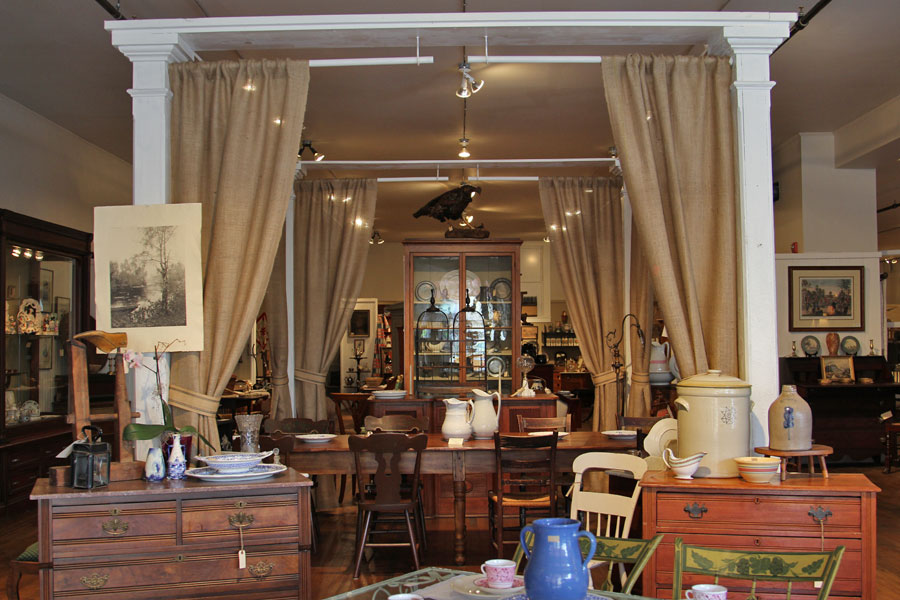 The Windham Antique Center - On The Square in historic Bellows Falls.  http://www.windhamantiquecenter.com/