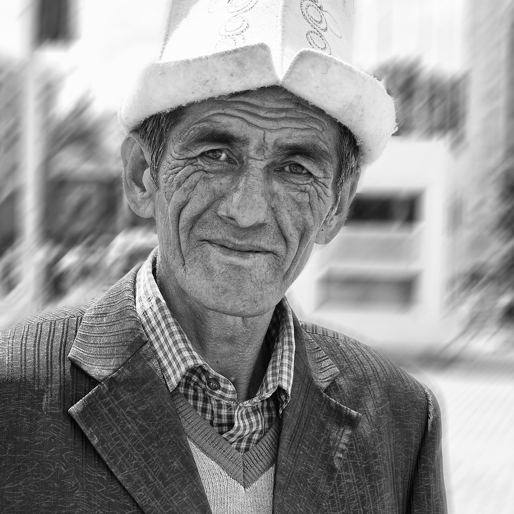 Man in national hat, Bishkek. www.ffaphoto.com