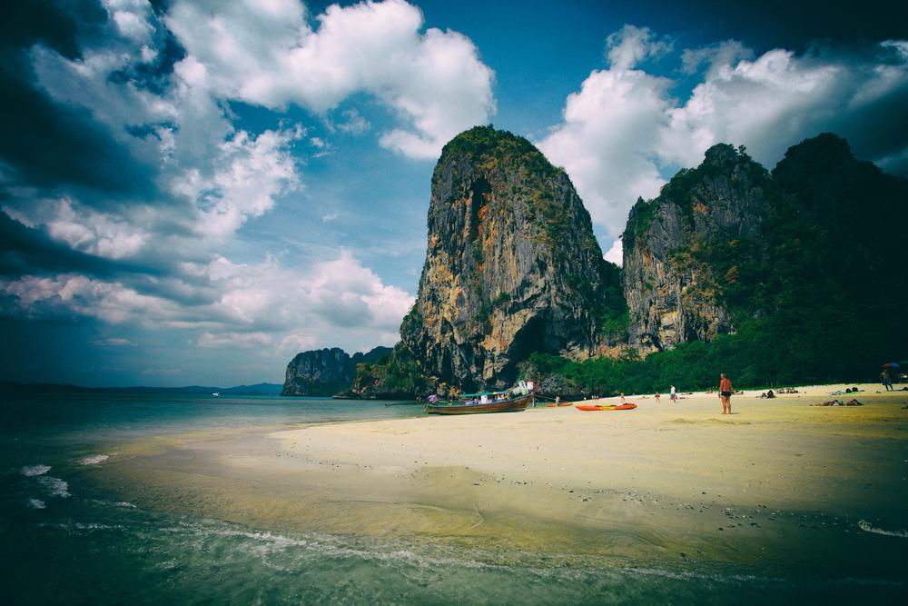 Ao Phranang beach, Krabi, Thailand.
