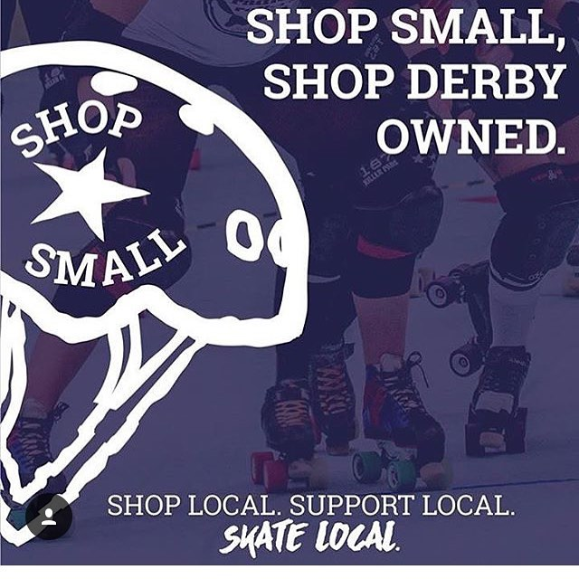 Let's support each other! Tag your favorite skater owned business! #smallbusinesssaturday #derbyowned #morethanjustoneday