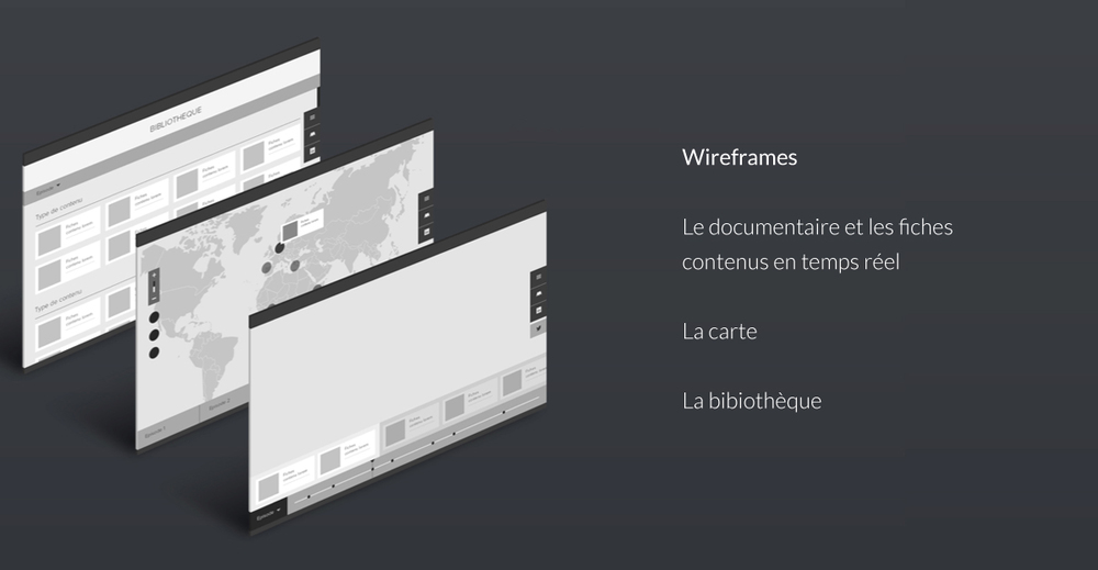 Wireframes - Map & Temps