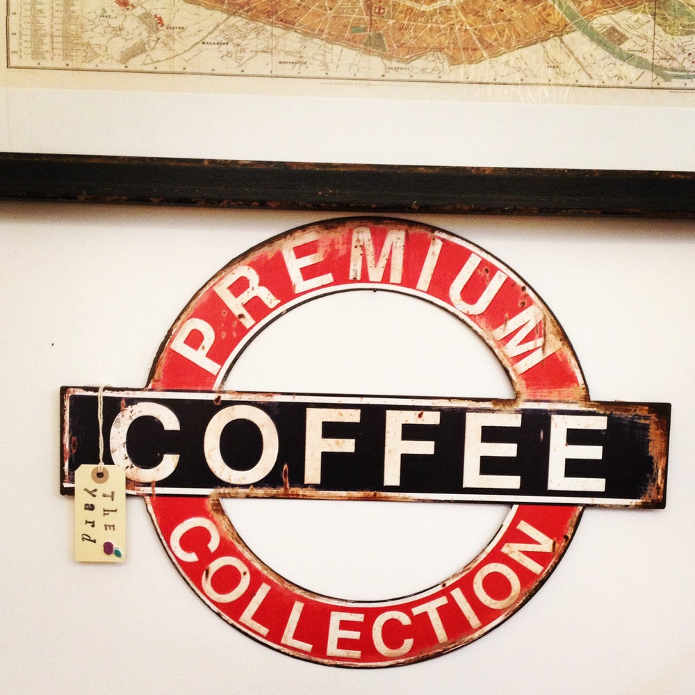 Large retro coffee sign