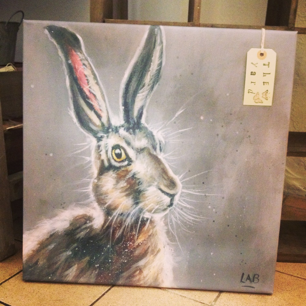 Hattie Hare canvas print