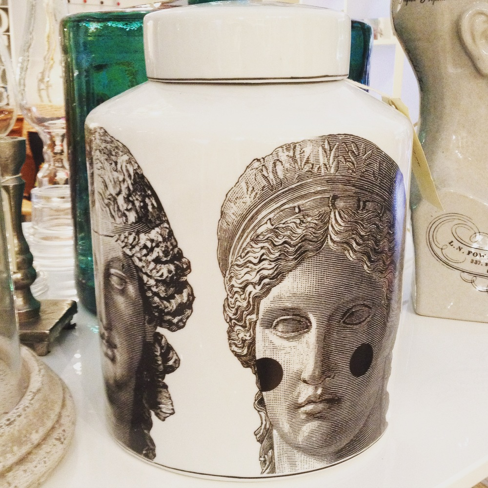 Greek gods head jar