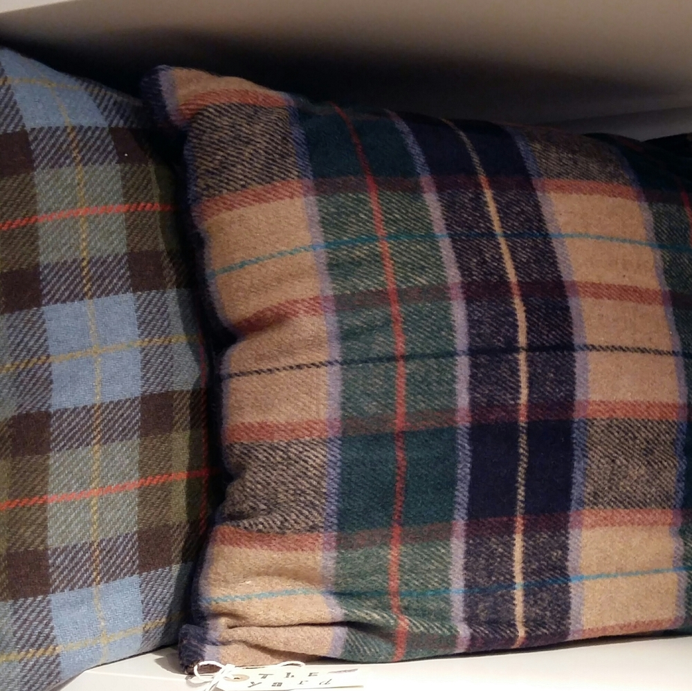 Super soft tartan cushions
