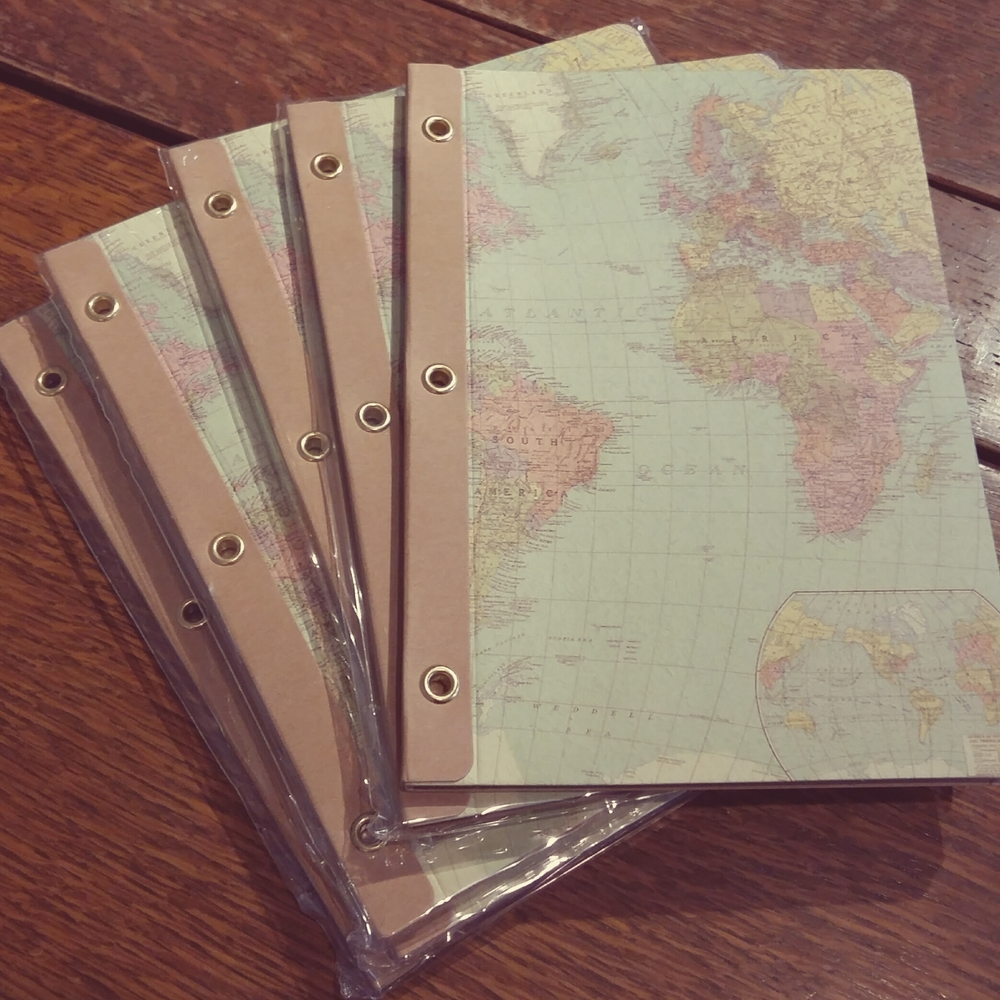 World map notebooks great stocking fillers £3