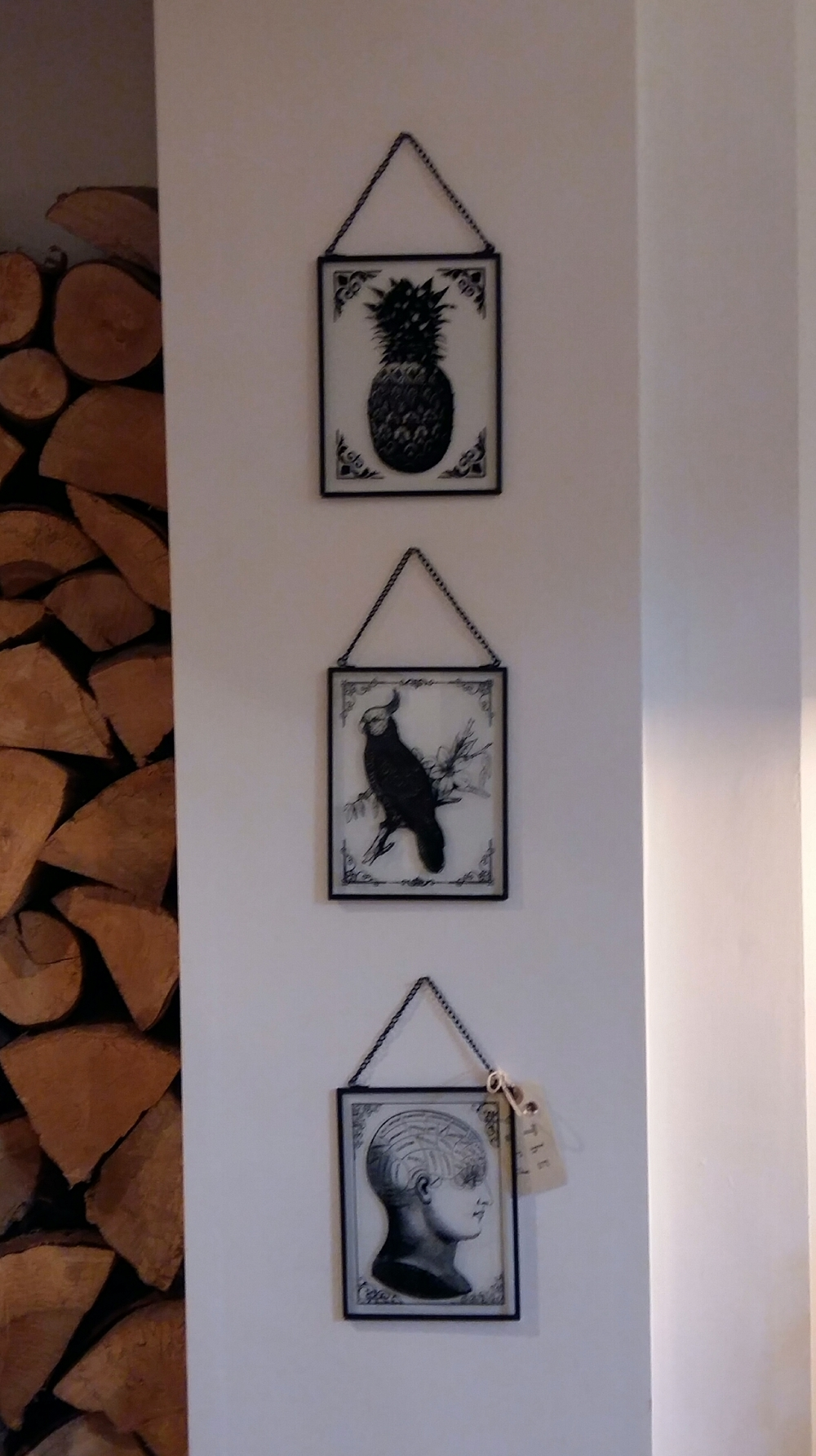 Hanging etched glass art £4 each