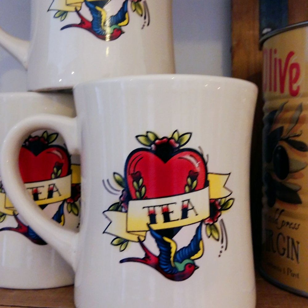 Coffee or Tea tattoo print mugs only £3 each!
