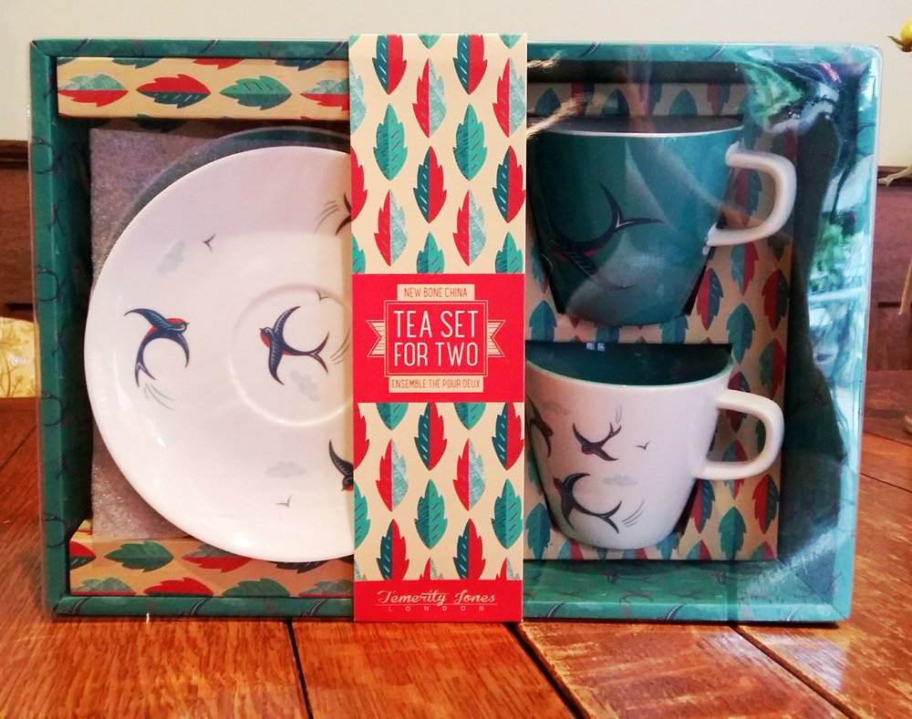 Boxed cup and saucer set £7.50