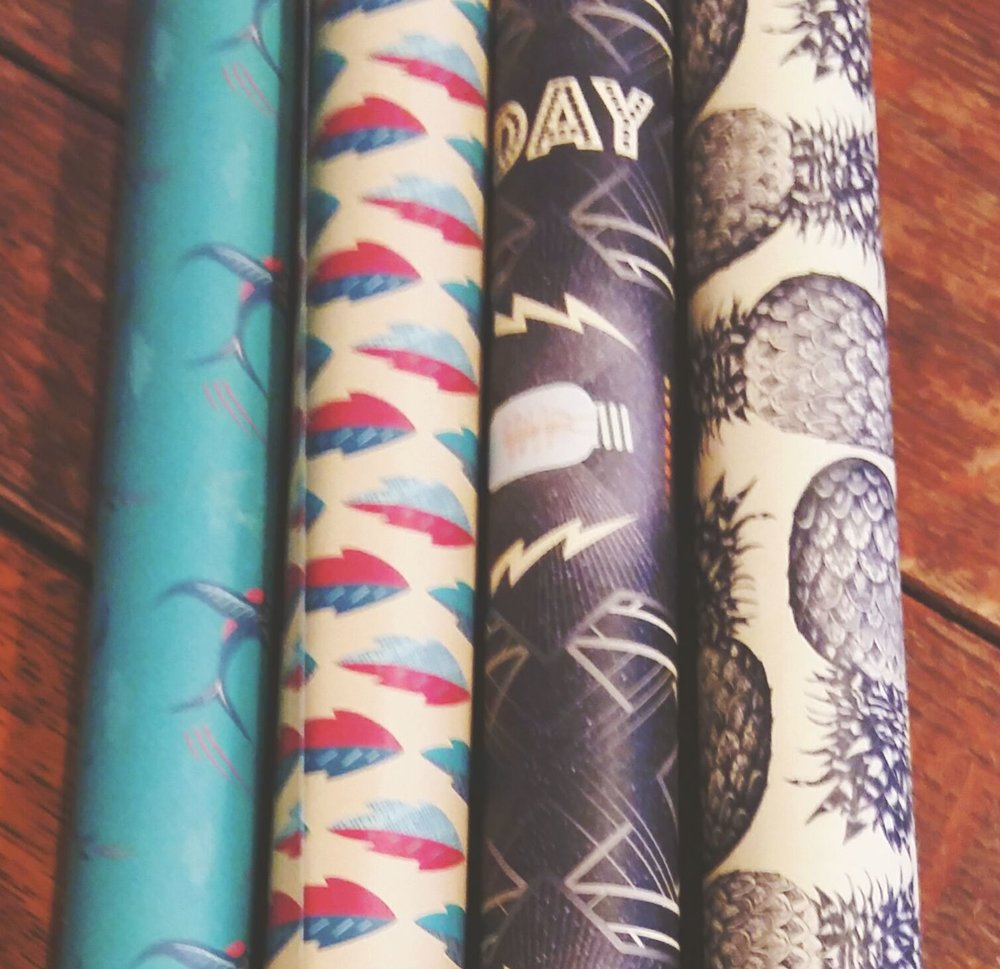 Double sided gift wrap 50 pence a sheet!