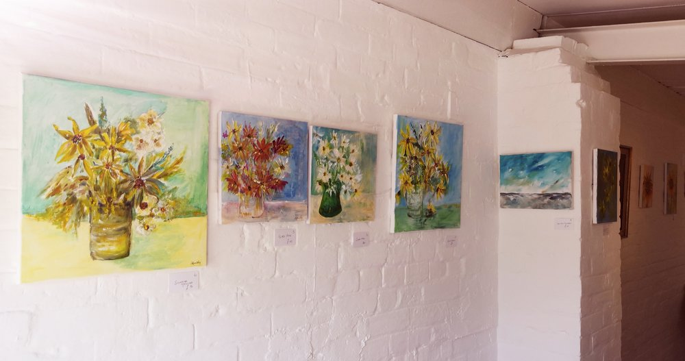 Beautifully bright exhibition by Ann Hambly