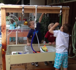 At the water table