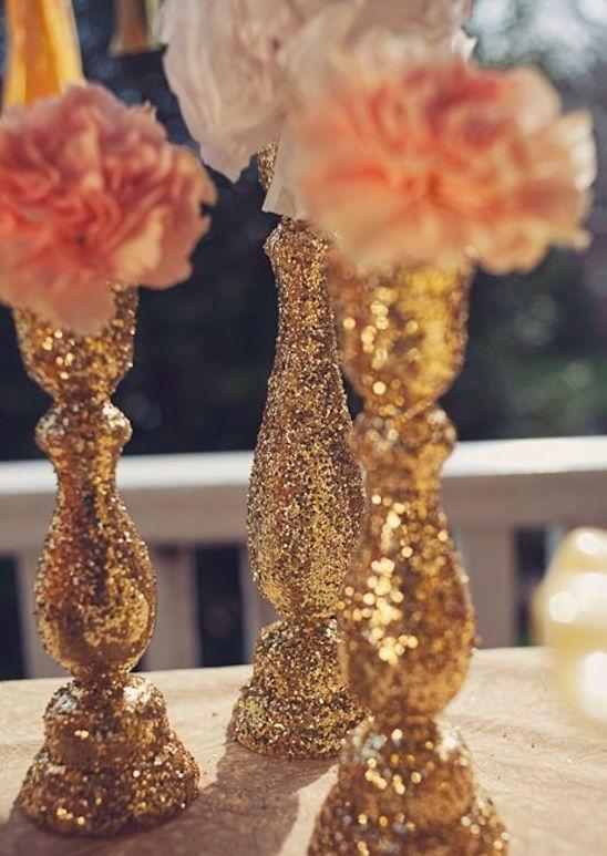 Gold glitter centerpieces.jpg