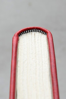 "For a larger book use a size 2 or 3 endband.  For  this 8"" x 10"" book , Daniel used a size 3 end band."