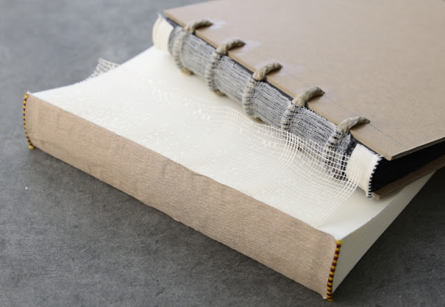 Mull—the net-like material on the spine of books, used to strengthen the spine.