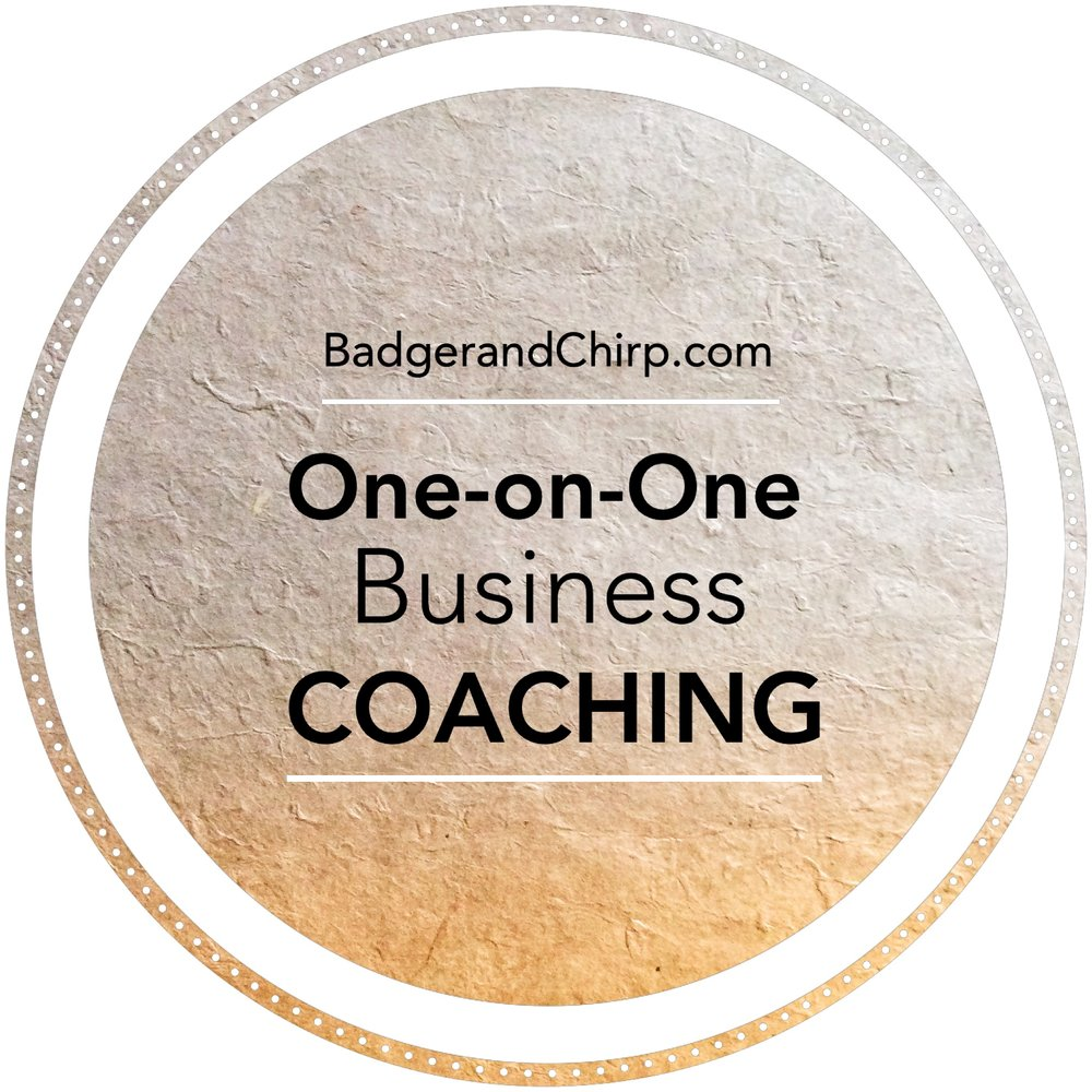 One-on-One Business Coaching - For the Artist, Creative, Small Business or SolopreneurThree months of personalized business strategy sessions to help you navigate those rough waters in this modern business world. Investment: $450/Month