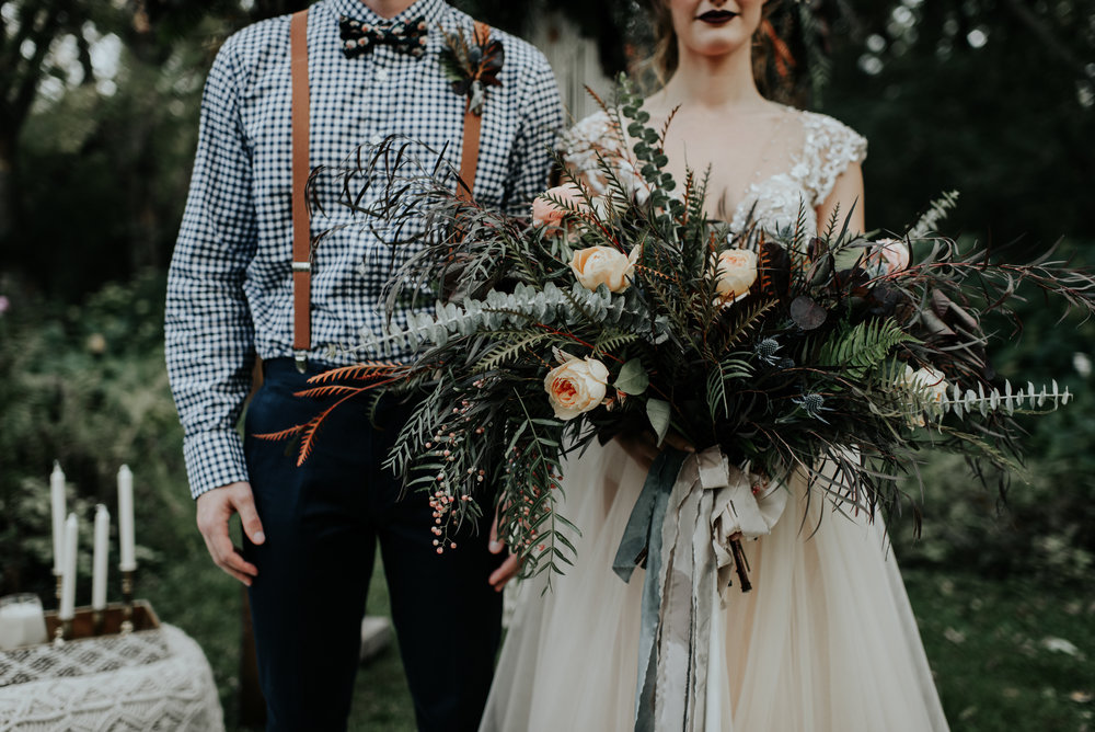 boho elopement - the outing lodge | tinge photo
