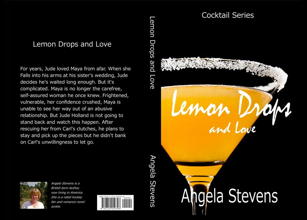 This design was the one that appeared on the first edition copies of both the paperback and the e-book version of Lemon Drops And Love in May 2015