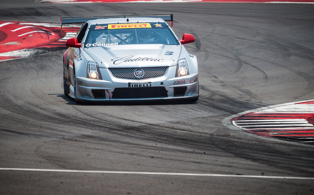 Winner #3 Johnny O'Connell in his Cadillac Racing CTS-V.R at Circuit of the Americas Race Track in Austin, Texas.