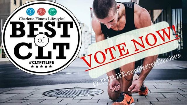 Visit @cltfitlife and vote for your favorite healthy living and fitness businesses in #CLT 🗳