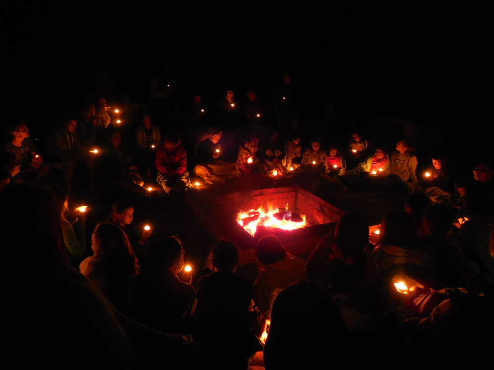 and shared the light of Jesus at our final campfire.