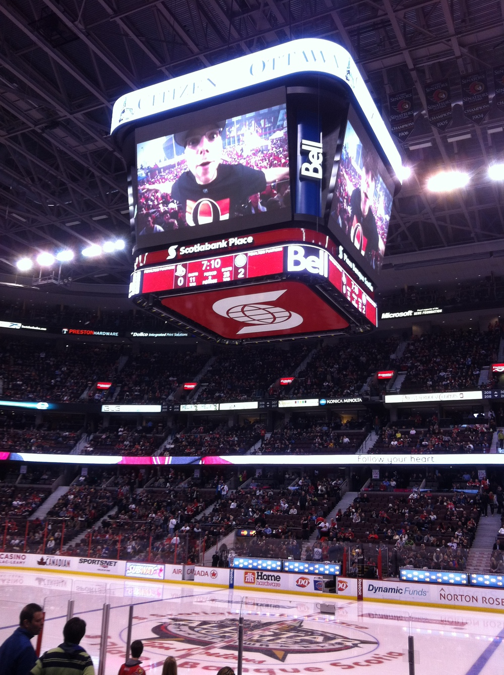 Peter Joynt - The Joynt on the screen at Scotia Bank Place