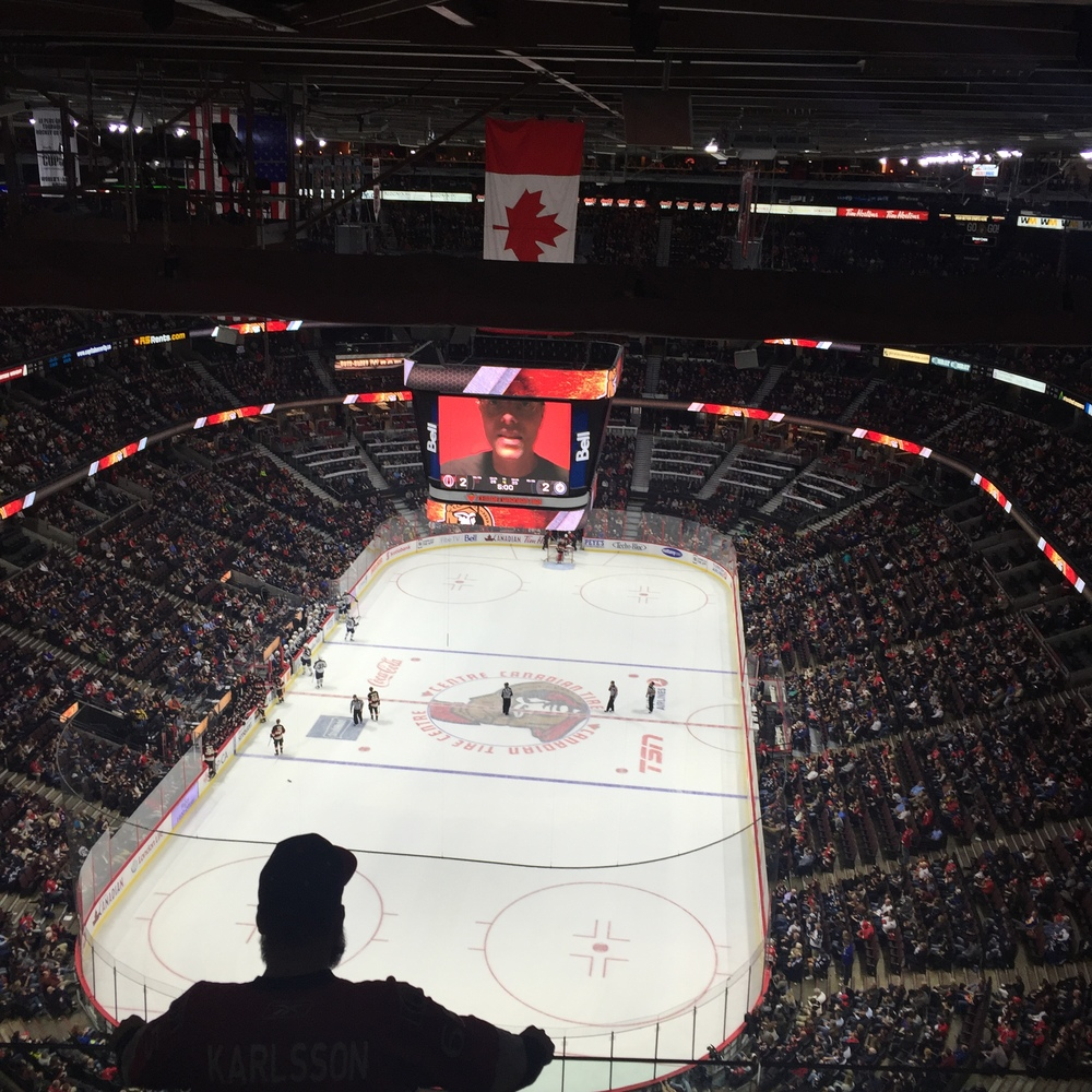 Peter Joynt - The Joynt's THIS IS IT video playing at the Canadian Tire Centre in 2015