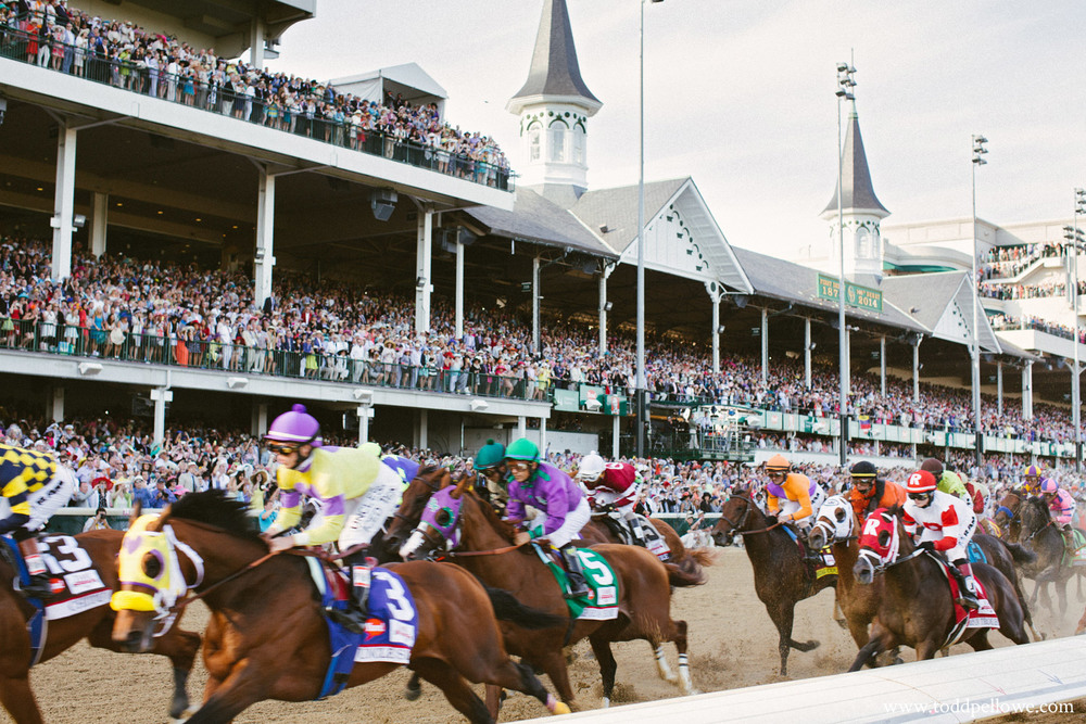 First pass of horses at Kentucky Derby 140