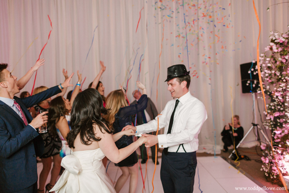 Louisville confetti cannons at wedding