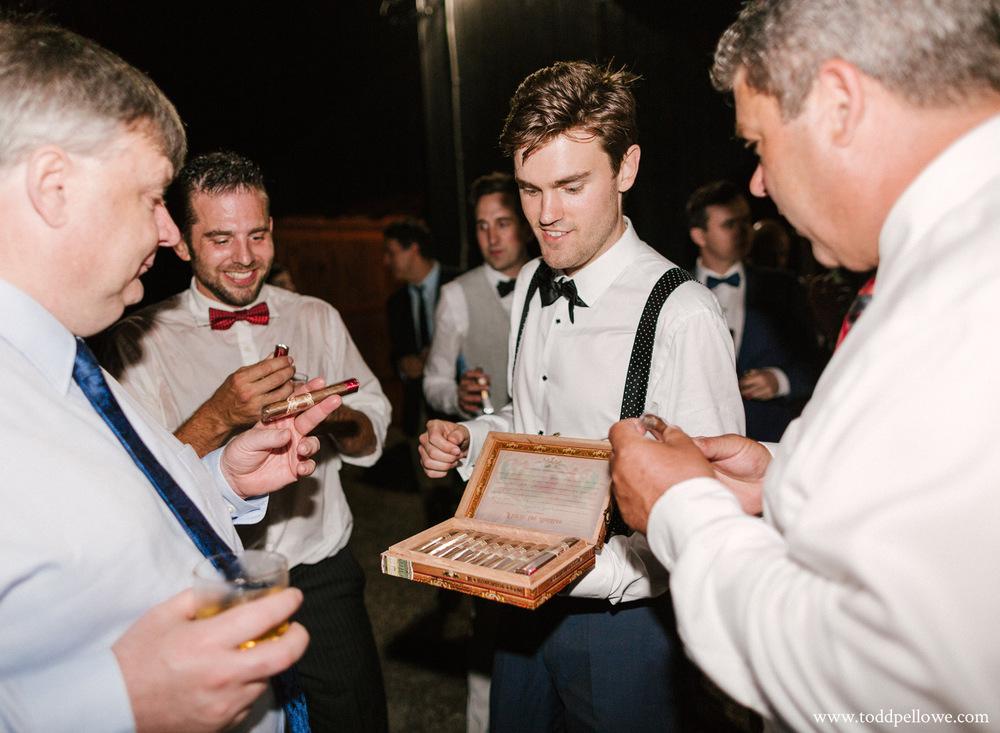 My Father Cigars at Farm wedding