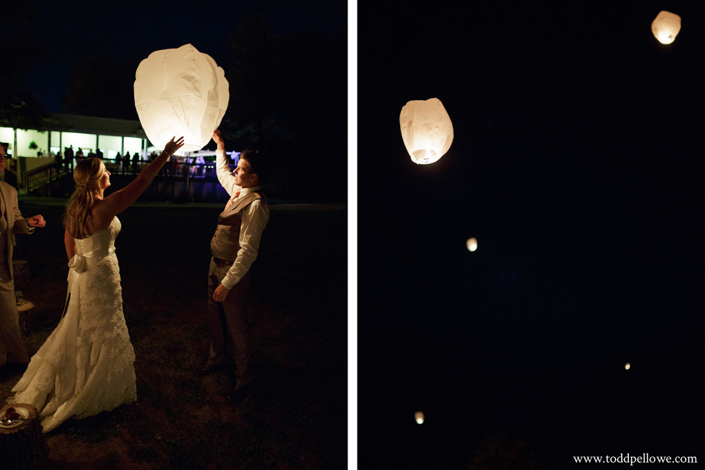 Louisville wedding lanterns