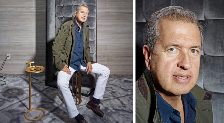 Mario Testino at the Park Hyatt New York hotel in Midtown Manhattan.