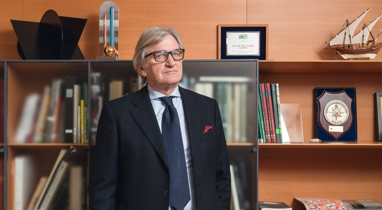 Roberto Snaidero at his Milan office.
