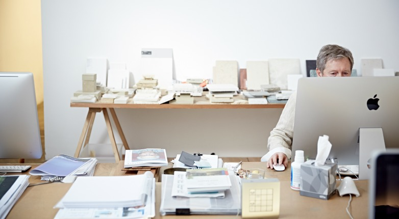 John Pawson in his London studio.