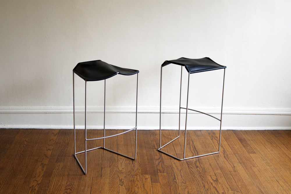 Wood And Steel Furniture Designer Tries His Hand At Leather Surface