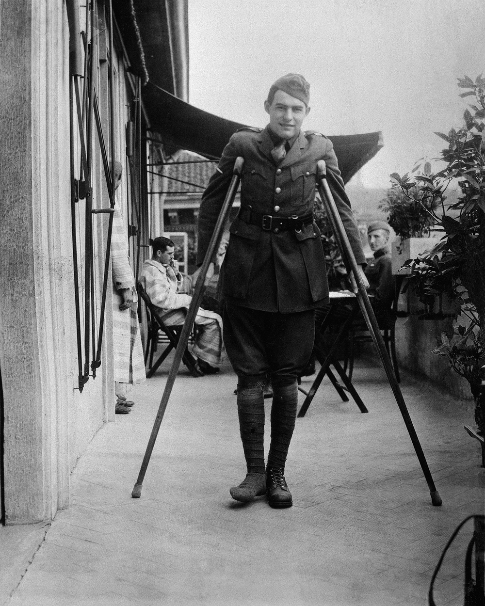 1. Hemmingway on crutches.jpg